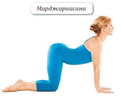 Йога для укрепления спины - марджириасана