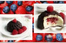 Глазированные сырки с ягодами