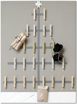 креативная елка из прищепок