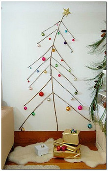 елка декор стен