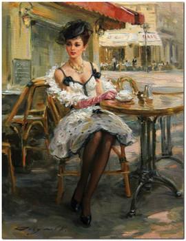 женщина с кофе...
