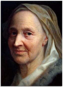 Бальтазар Деннер. Портрет пожилой женщины.