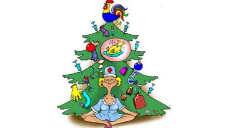 Анекдоты про новогоднюю елку