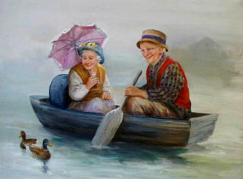 Картина бабушка и дедушка
