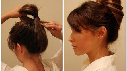 Простая женственная прическа из длинных волос