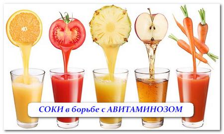 соки и лечение авитаминоза