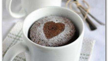 Шоколадный кекс в микроволновке за 3 минуты