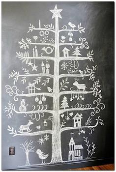 елка рисунок на стене