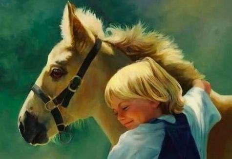 мальчик и жеребенок