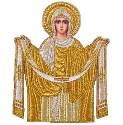 Покров Богородицы вышитая икона